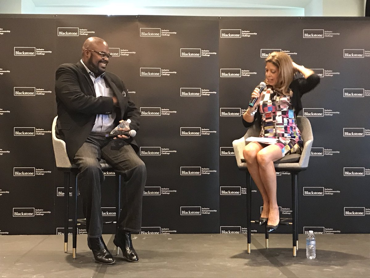 """Love the infectious energy of Don Thompson former CEO @McDonalds and founder of @CleveAveLLC always """"intentionally open to new ideas"""" #IEsummit @ChicagoNEXT @BlackstoneEI<br>http://pic.twitter.com/eXeucxZDBz"""