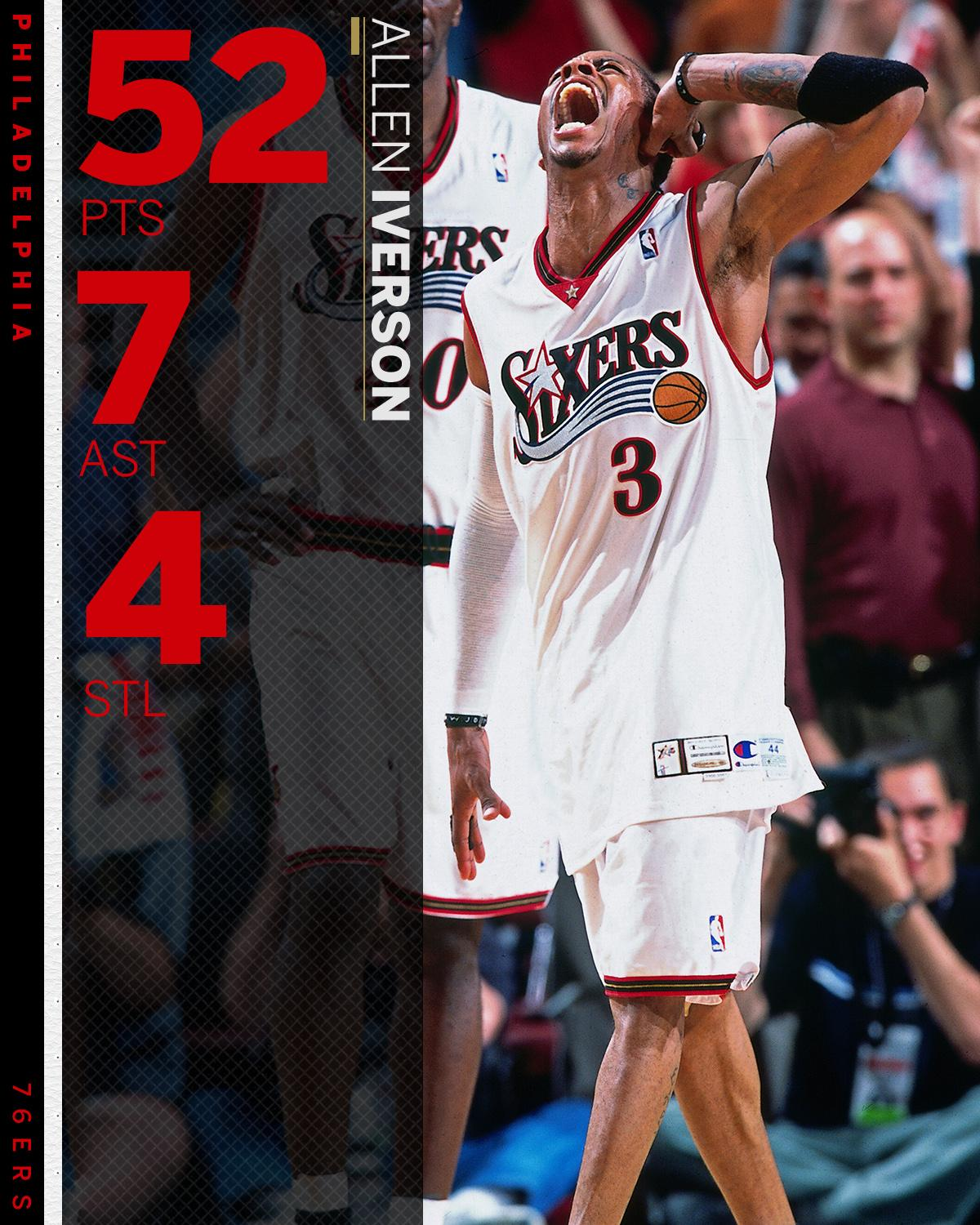 17 years ago today, The Answer dropped 52 points on the Vince Carter Raptors. https://t.co/eGbGfT0Q7D