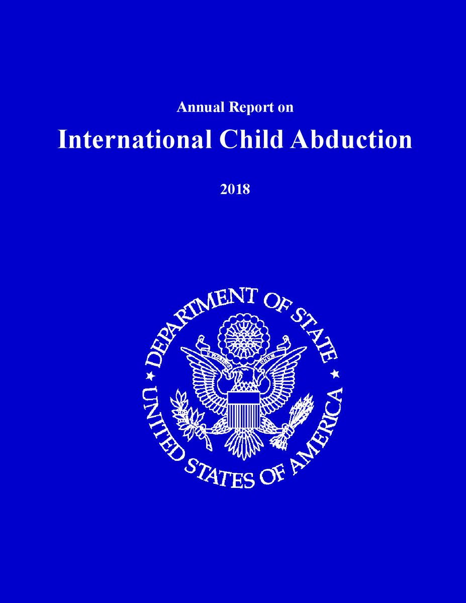 The U.S. #State #Department has #published the #Annual #Report on #International #Child #Abduction 2018. Japan is #red and con-compliant to the #Hague #Convention. Please share and retweet.<br>http://pic.twitter.com/cybiKC05VE