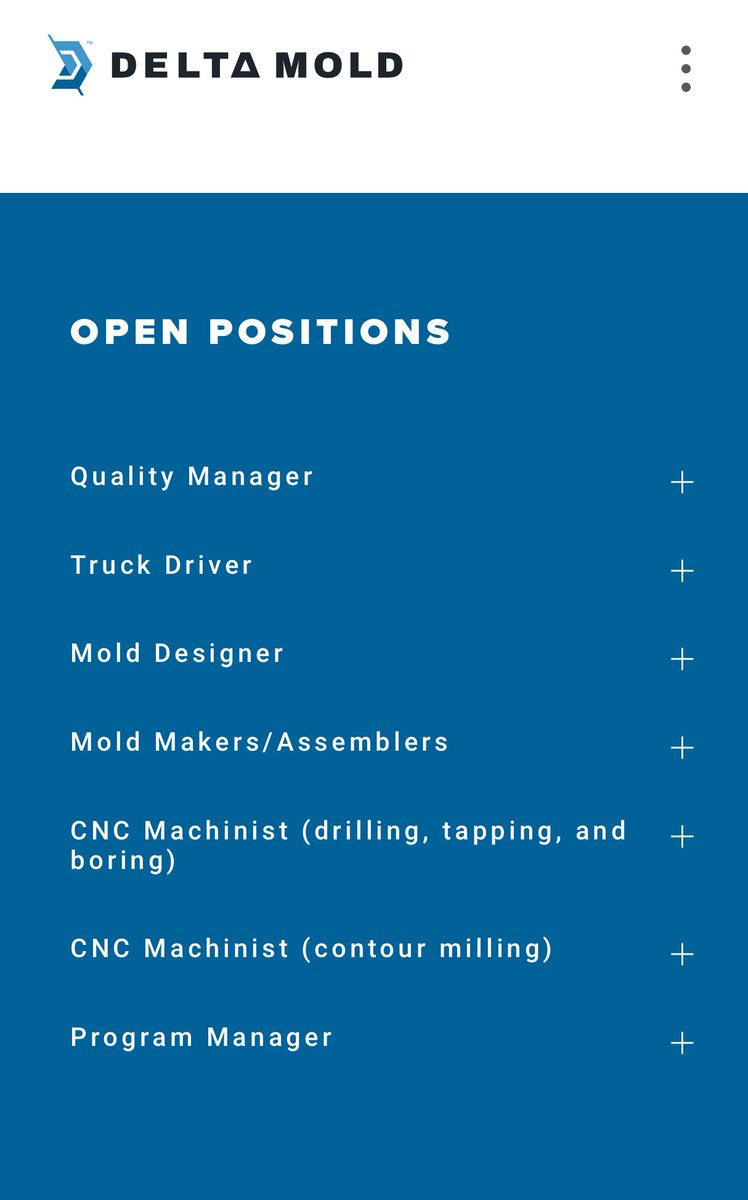 Looking for a great job at a great company check out our open positions at @deltamolding. https://t.co/0NXyEJEXCD