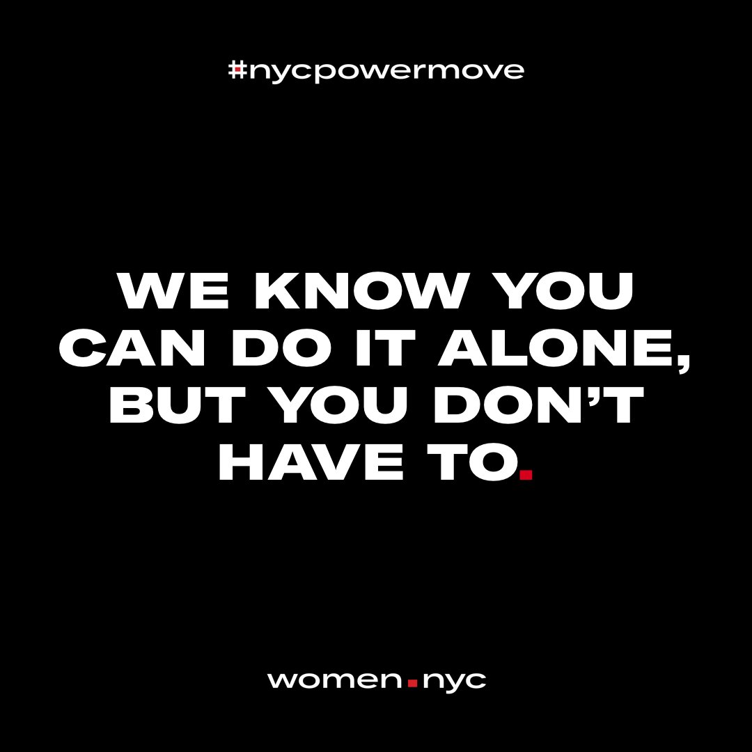 Women in NYC, we've got your back! We're here to support women in all walks of life find their dream careers, demand the promotion or raise they deserve, and live their healthiest lives. Visit  http:// women.nyc  &nbsp;   to find out how. #nycpowermove <br>http://pic.twitter.com/XPSeKpwhod