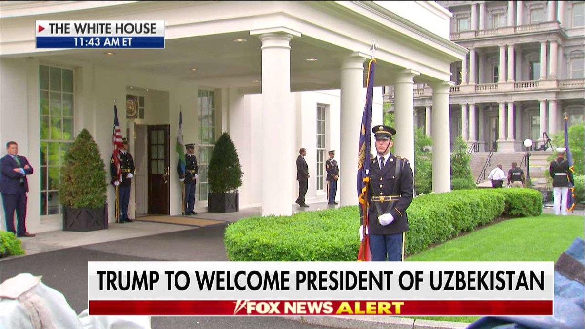 .@POTUS to welcome president of Uzbekistan