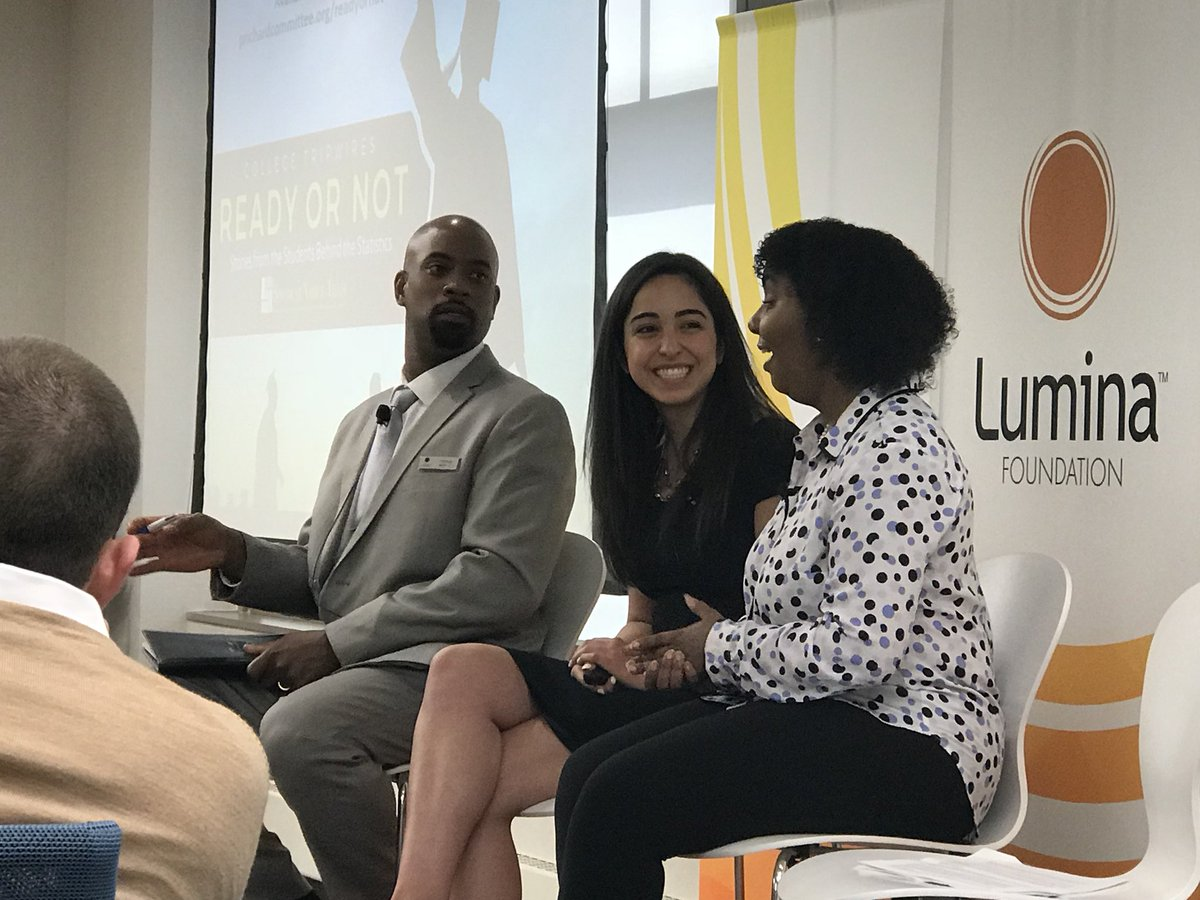 SVT's Jeliah Logan &amp; @saharzadeh_ are @LuminaFound sharing ideas about how to enlist #studentsaspartners in making education more equitable. #BeyondFinancialAid #StuVoice<br>http://pic.twitter.com/kpbu0FzskG &ndash; à 30 S. Meridian