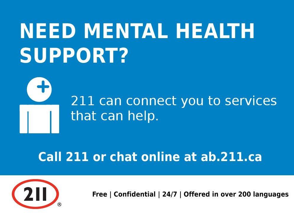 Cmha Edmonton On Twitter Need Mentalhealth Support Contact 211