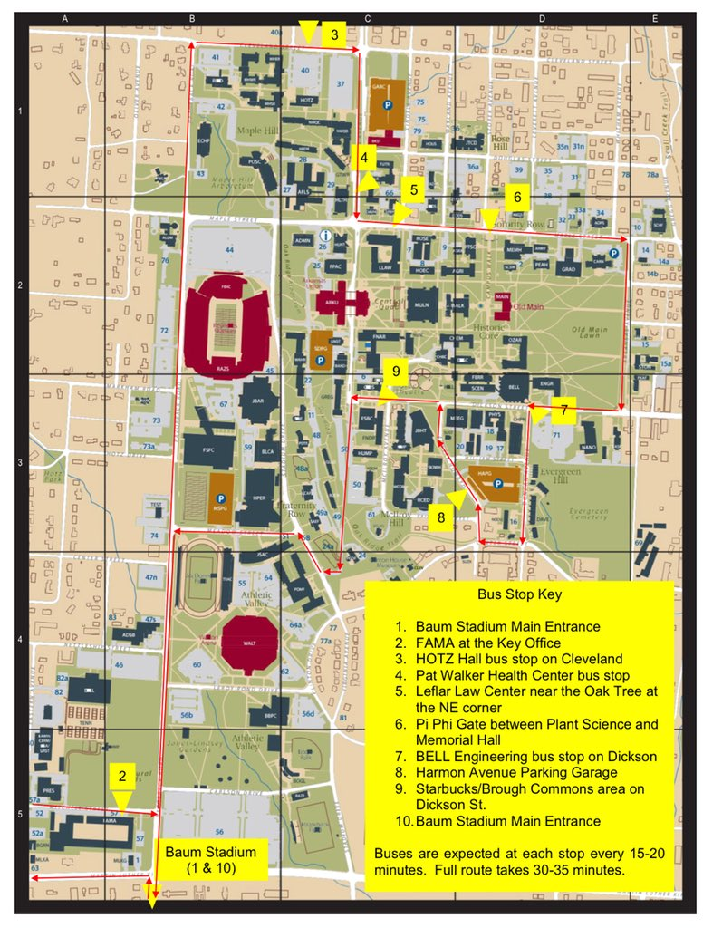 "ua staff senate on twitter: ""check out the bus pickup locations to"