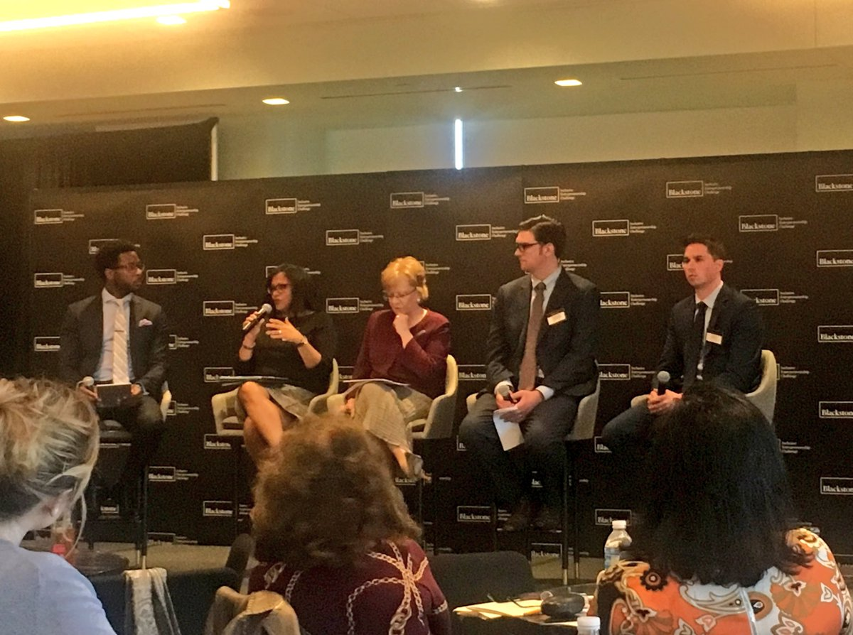 Thank you to the @blackstone Charitable Fdn &amp; @WorldBizChicago for inviting us to take part in the #IESummit -- a day of great conversations around how we can advance inclusive #entrepreneurship in Chicago and around the U.S.<br>http://pic.twitter.com/crrciD8QAT