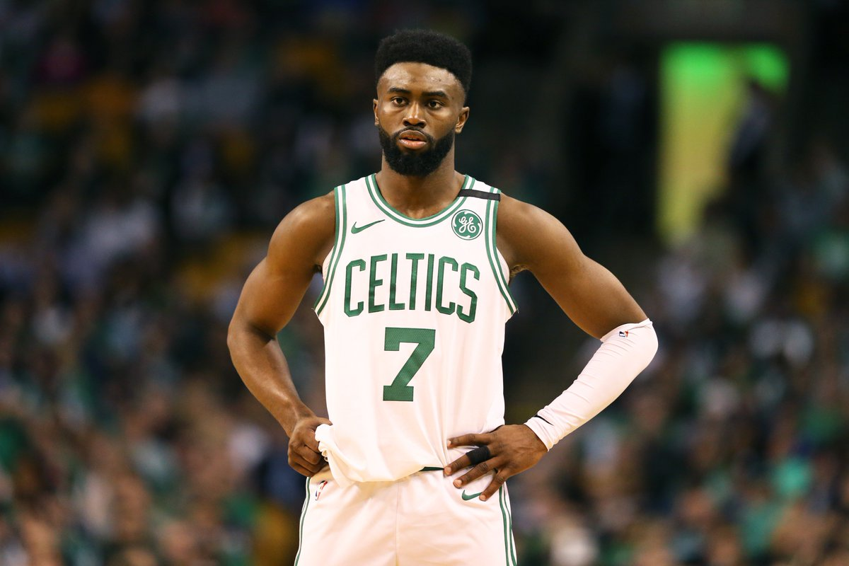 Jaylen Brown is the first player in @NBAHistory with 20+ PTS and 5+ REBS in back-to-back Conference Finals games at 21 years old or younger. @EliasSports
