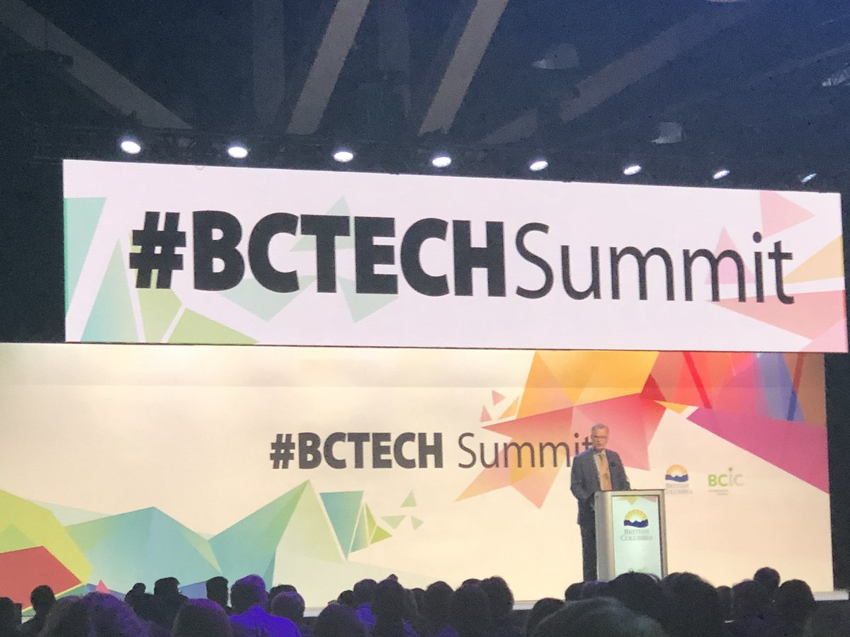 "Premier Horgan at #BCTech summit: ""The tech sector is the foundation of our new future.....a powerful economy that works for everybody!"" Thanks for the strong support! @jjhorgan @melaniejmark @BruceRalston @wearebctech<br>http://pic.twitter.com/Thv4SAojR6"