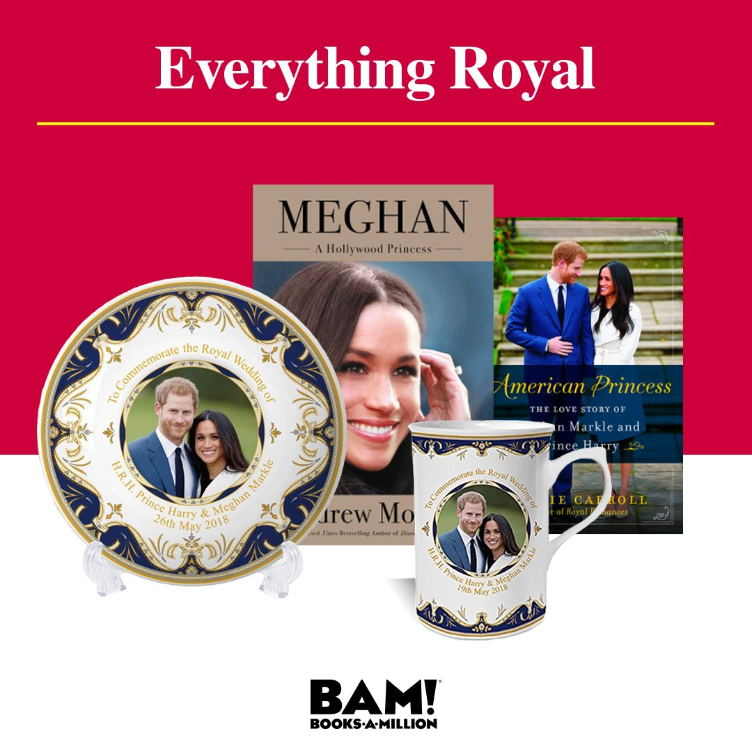 Celebrate the #royal occasion with #gifts and #collectibles to commemorate this historic event. Find these royal jewels now at #BooksAMillion today. bit.ly/2L2YXvS