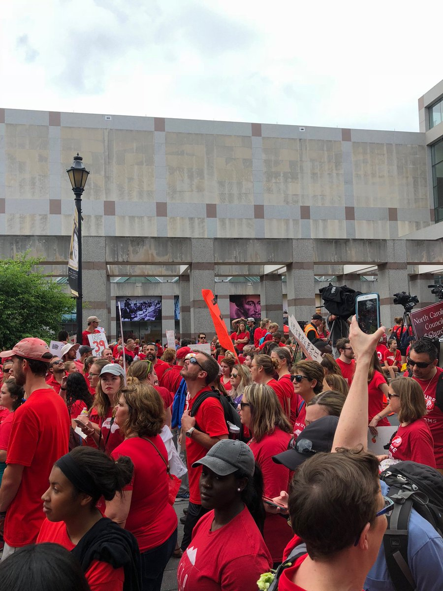 Fund our public schools, raise Teacher pay and invest in our future instead of giving tax breaks to millionaires and billionaires. #red4ed #redfored #may16 #ncpol #supportourteachers #ncae #Raleigh #nc<br>http://pic.twitter.com/cURjJpo6eV