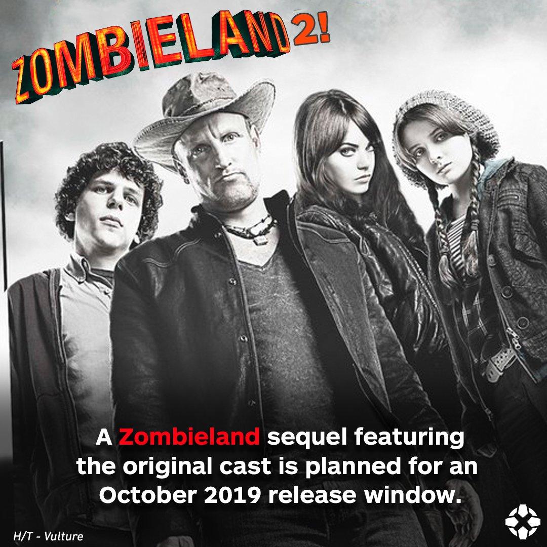 Zombieland 2 is coming in 2019!! �� https://t.co/ZFzn5odhOm