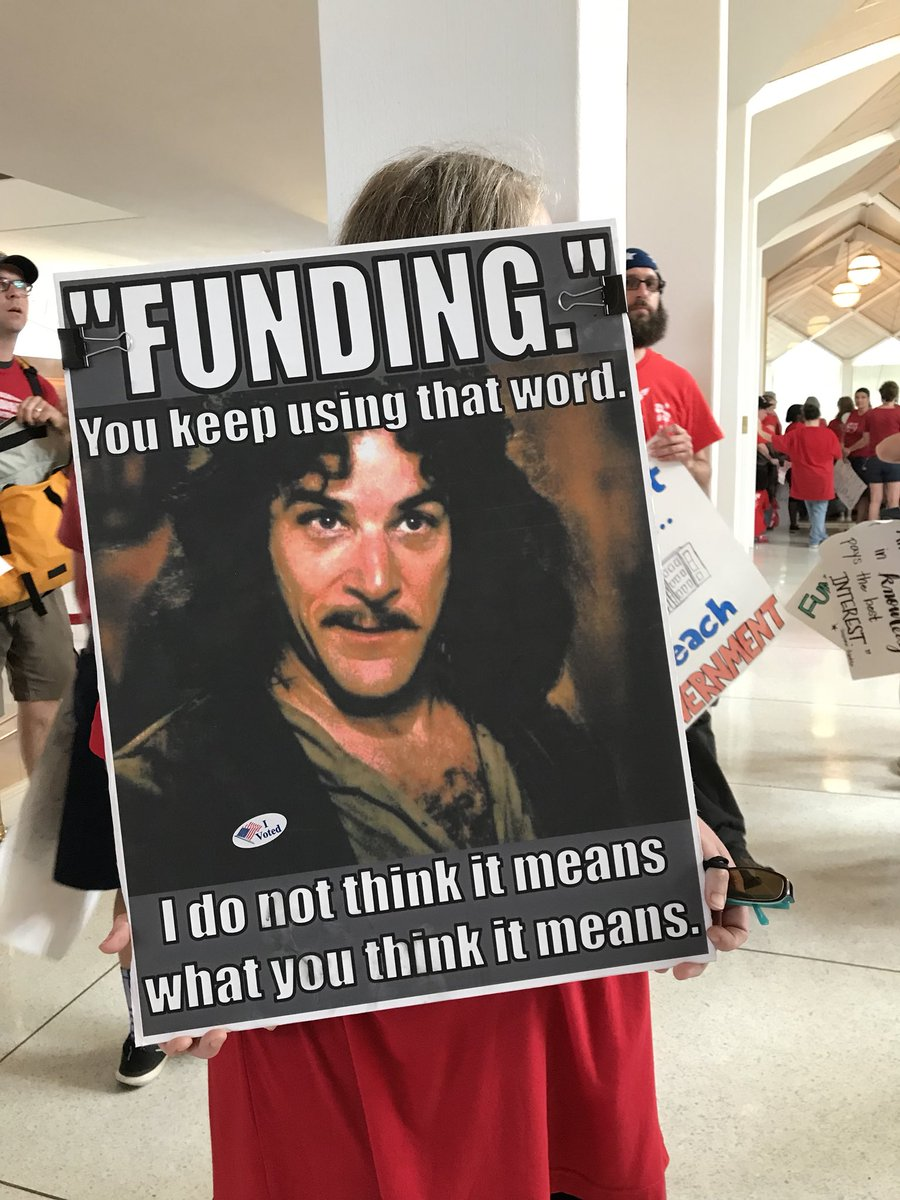 There are some great signs for today's #NCTeacherRally like this one: #princessbride #ncga #ncpol<br>http://pic.twitter.com/xh1dyL6bzc