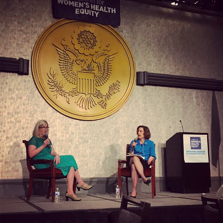 &quot;We need to stop stigmatizing women for taking care of their mental health during pregnancy.&quot;  Great fireside chat with Dr. Jennifer Payne and Mary Giliberti!   #HealthEquity4Her #NWHW #GenderAndMentalHealth @johnshopkins @NAMICEOMary @nami<br>http://pic.twitter.com/DI7BstJXxM