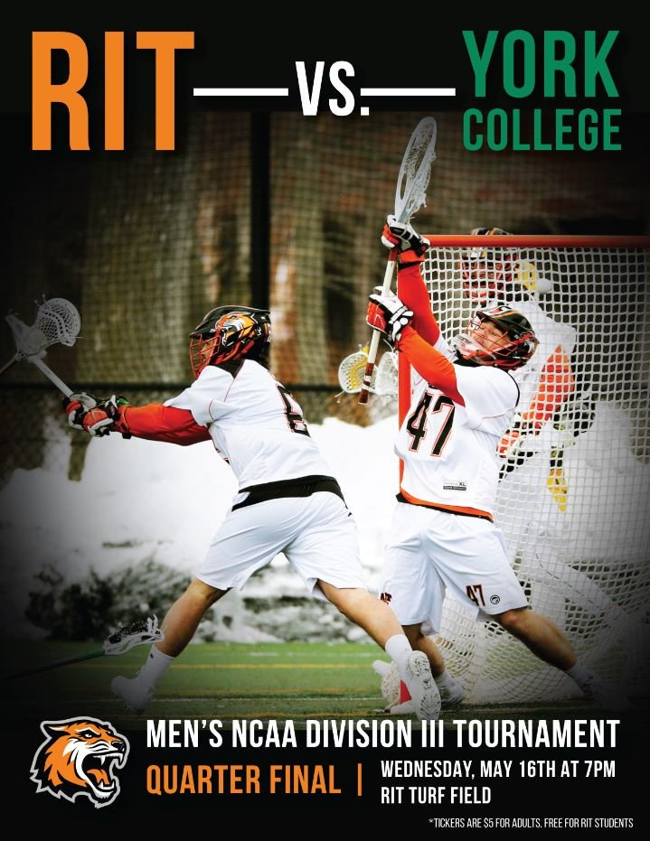 Rochester institute of technology ritstudentlife your rit mens lacrosse team is back at it for the ncaadiii quarterfinals against fandeluxe Gallery