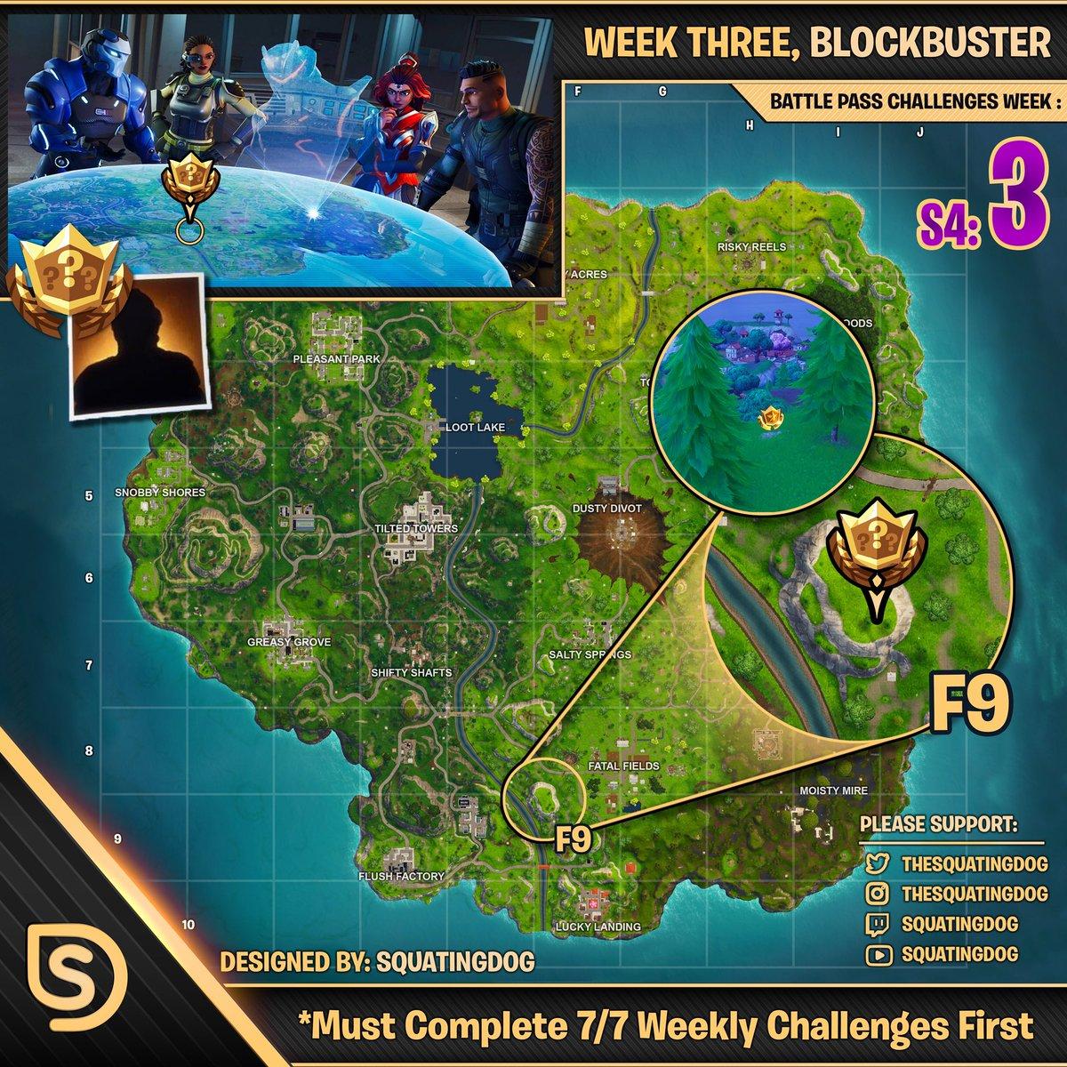 squatingdog - week 3 challenges fortnite season 4