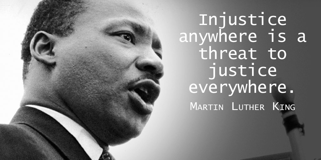 """Social Jukebox on Twitter: """"Injustice anywhere is a threat to ..."""