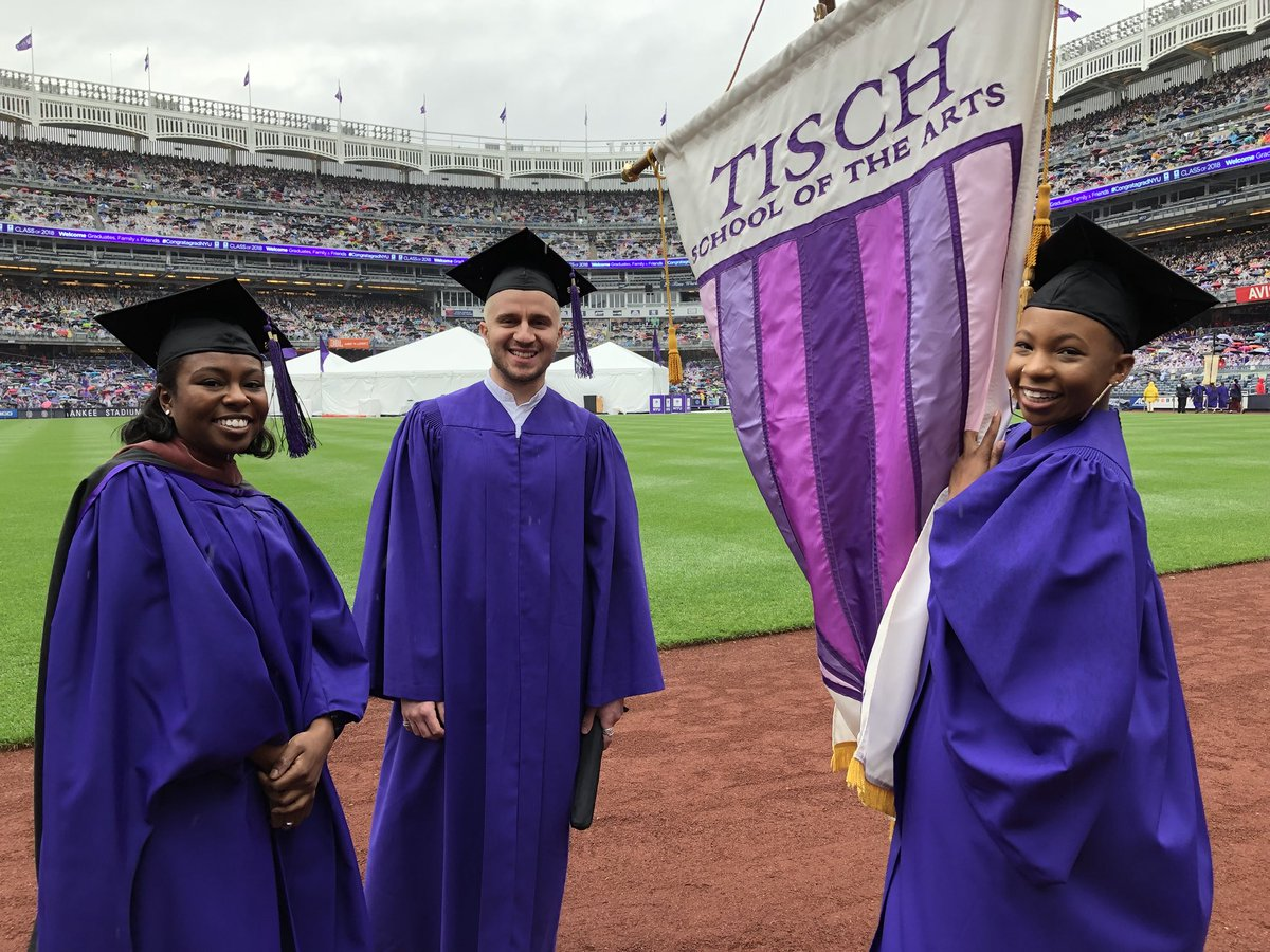 Stacey Derosier, Stefan Krsmanovic, and Zuri Noelle Ford represented 1,471 Tisch graduates today at NYU's 186th Commencement #congratagradNYU #nyu2018 #nyutisch <br>http://pic.twitter.com/yA8MSK15fJ