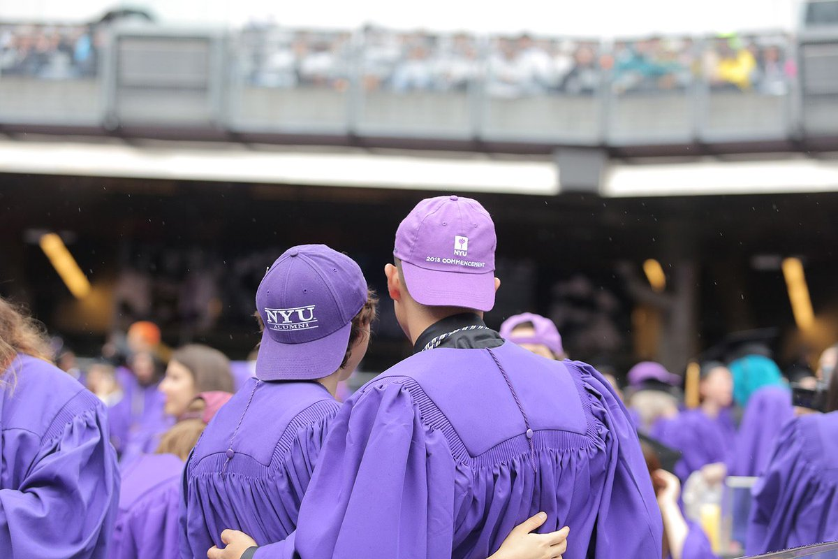 Congratulations to our #NYU2018 graduates! We hope you&#39;re somewhere warmer and drier now, enjoying a well-deserved celebration.  #CongratagradNYU <br>http://pic.twitter.com/rXd6gwSirL