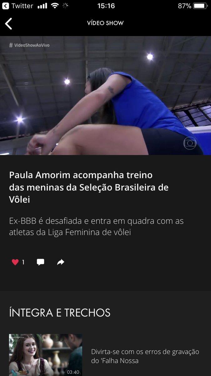 van 🎒's photo on PAULA AMORIM NO VIDEO SHOW