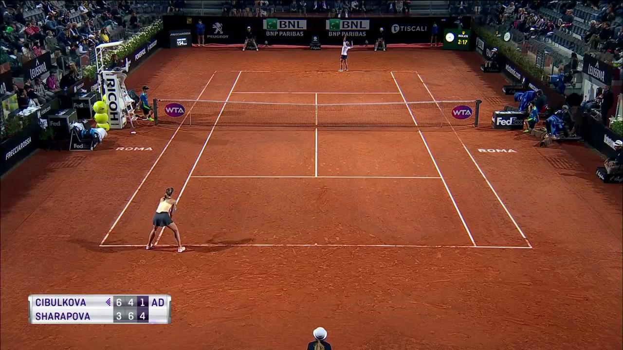 Wow! An amazing rally ends with the perfect @MariaSharapova dropshot! #ibi18 https://t.co/3nyAOKW5eu