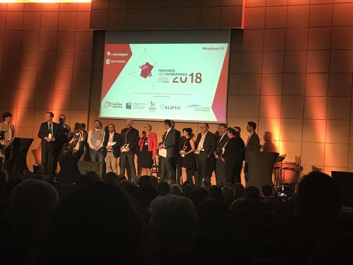 #trophees19 Photo de famille des lauréats. Bravo à tous, vive l'entreprise ! @lamontagne_fr @CCICorreze #Corrèze  - FestivalFocus