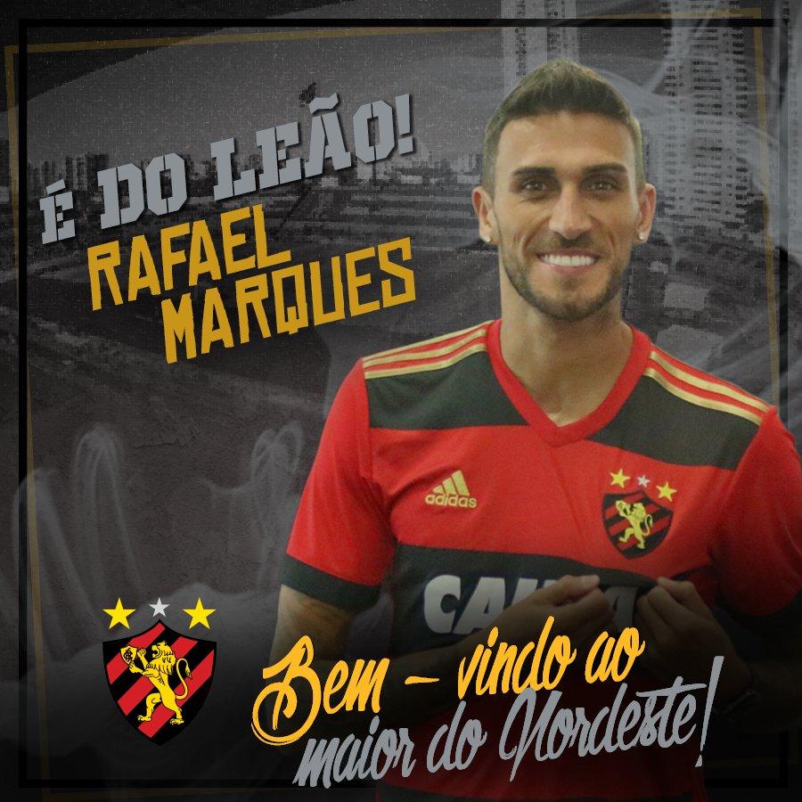 Rafael Marques é oficializado como reforço para o ataque do Sport #ÉDoLeão #JuntosSomosMaisFortes Acesse: https://t.co/VBiPqo8xzY
