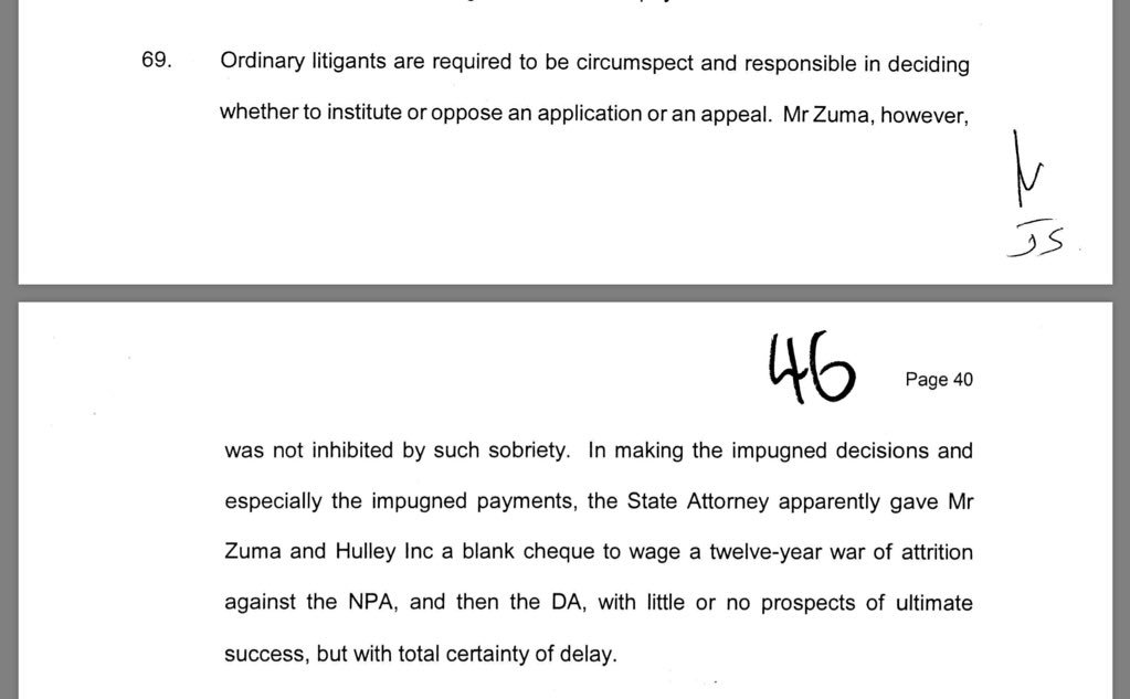 .@Julius_S_Malema on why the State cannot continue to fund fmr President Zuma's legal fees: doing so violates the principality of equality before the law.