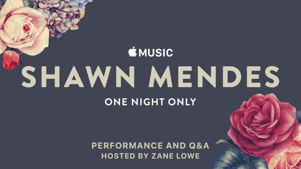 THURSDAY! @ShawnMendes #OneNightOnly. Watch on Apple Music or YouTube.