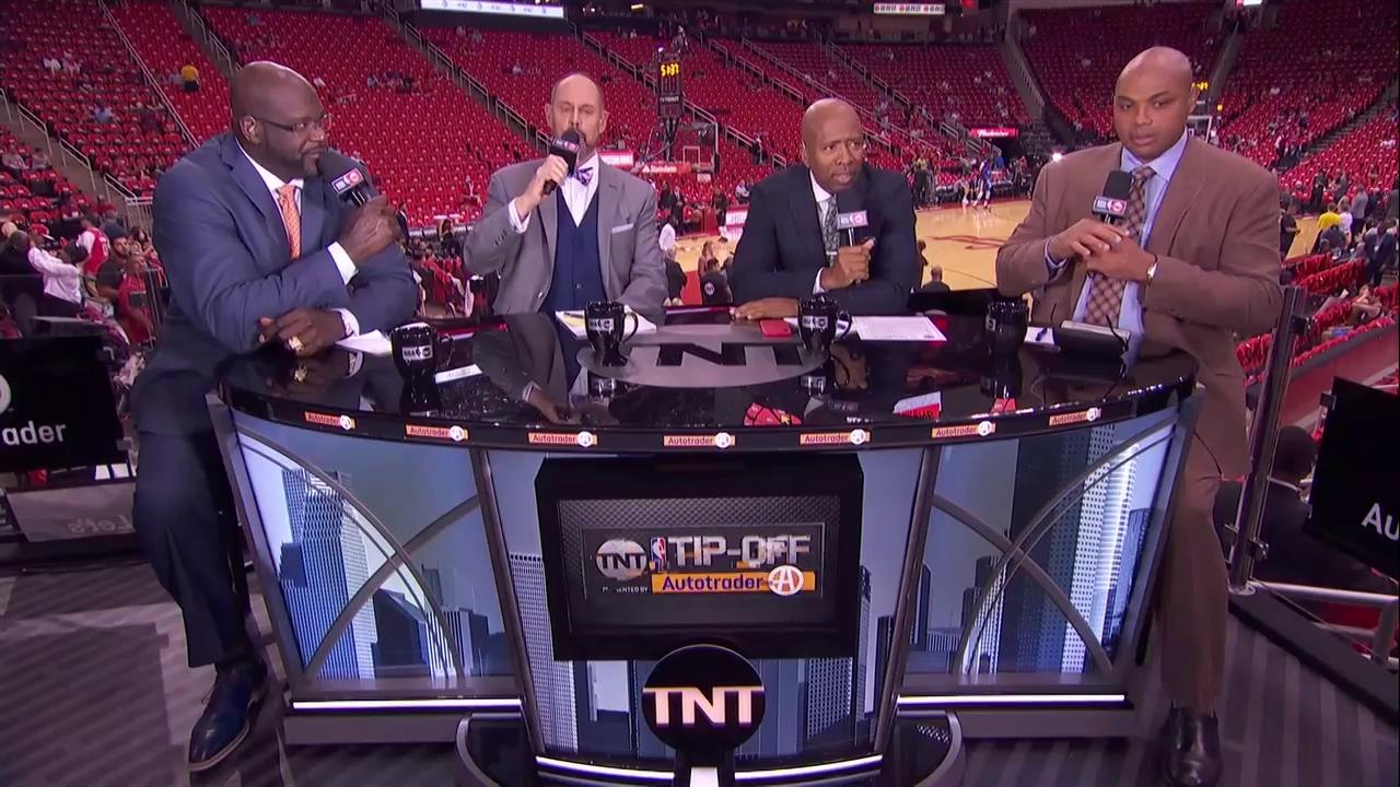 'I heard doughnut!' ��  Shaq, EJ, Kenny & Chuck can't decide between 'Laurel' or 'Yanny' �� https://t.co/pnTgyFlKjj
