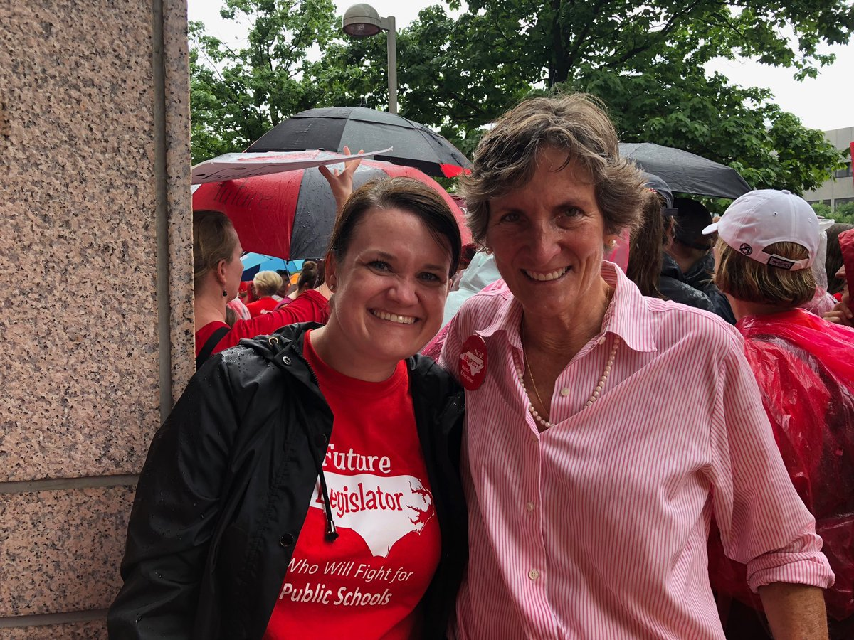 Looking forward to serving with @Clemmons4NC next year. A great day at the #ncga.  A sea of #RedForEd #ItsPersonal #NCAEStrong #ncpol<br>http://pic.twitter.com/ProJJuBVh1