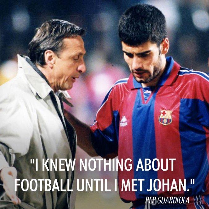 "Johan Cruyff on Twitter: ""Congratulations to Pep Guardiola on ..."