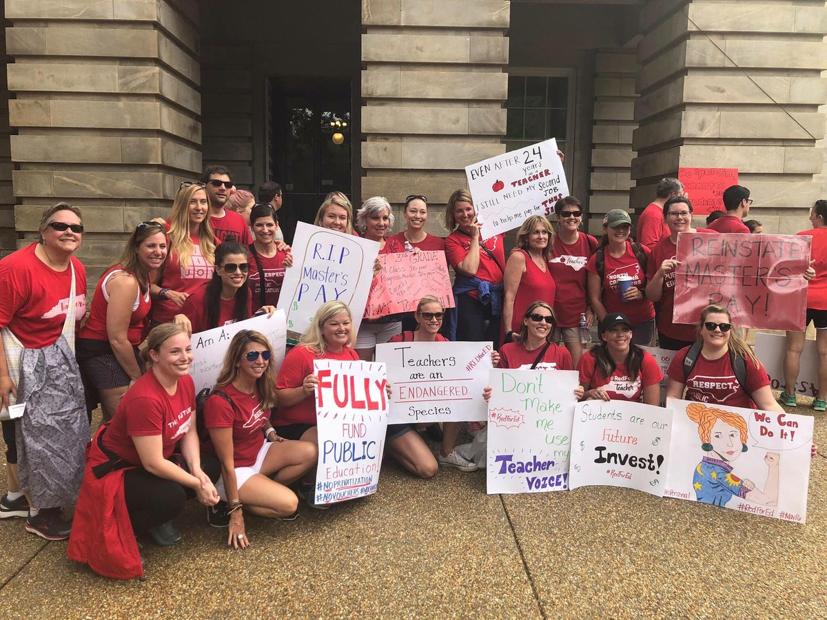 Amazing experience....proud to be a public school teacher. Our students deserve better! @PleasantUnionYR @krbiles #redfored #NCAEStrong #itspersonal<br>http://pic.twitter.com/dJe2RLb5f6