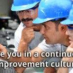 Continuous improvement in manufacturing is dictated by the plant's culture. Read what Dr. Bob Rice has found on about the relevance of culture: https://t.co/XsYJF5hYmM