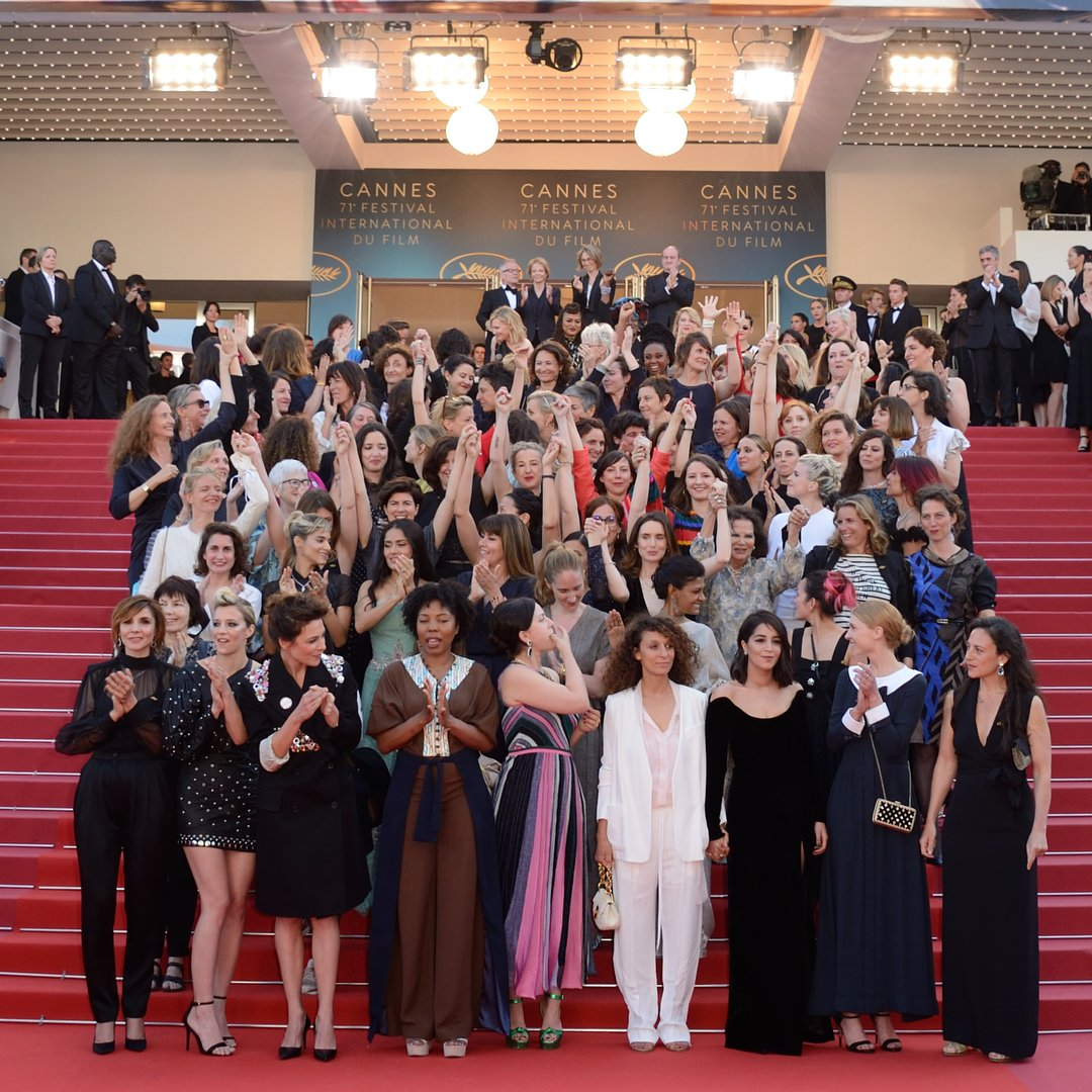 I cheated 🤷🏻♀️ I am having 82 woman crushes this week. #WCW Shouting out the eighty-two women that climbed the steps of the Palais des Festivals at #Cannes2018 to protest for gender equality in the film industry. @Festival_Cannes