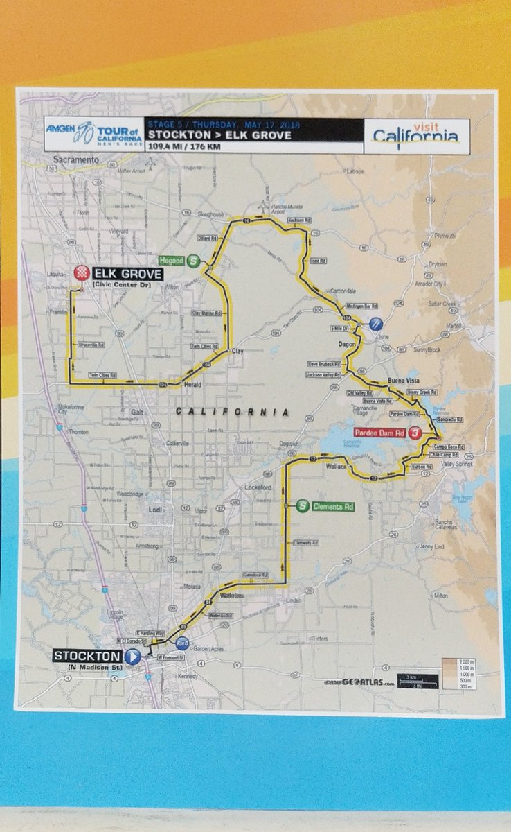 City of Stockton CA on Twitter Map of tomorrows AmgenTOC Stage