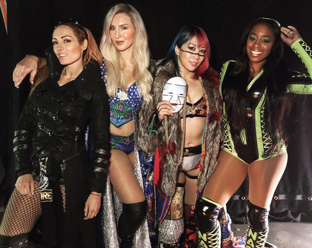 Thank you #wweliverpool 💋 @WWEAsuka @BeckyLynchWWE @NaomiWWE Wooooo!