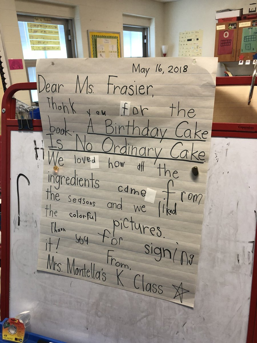 Nick Myers On Twitter Our Kindergarten Students Wrote To The