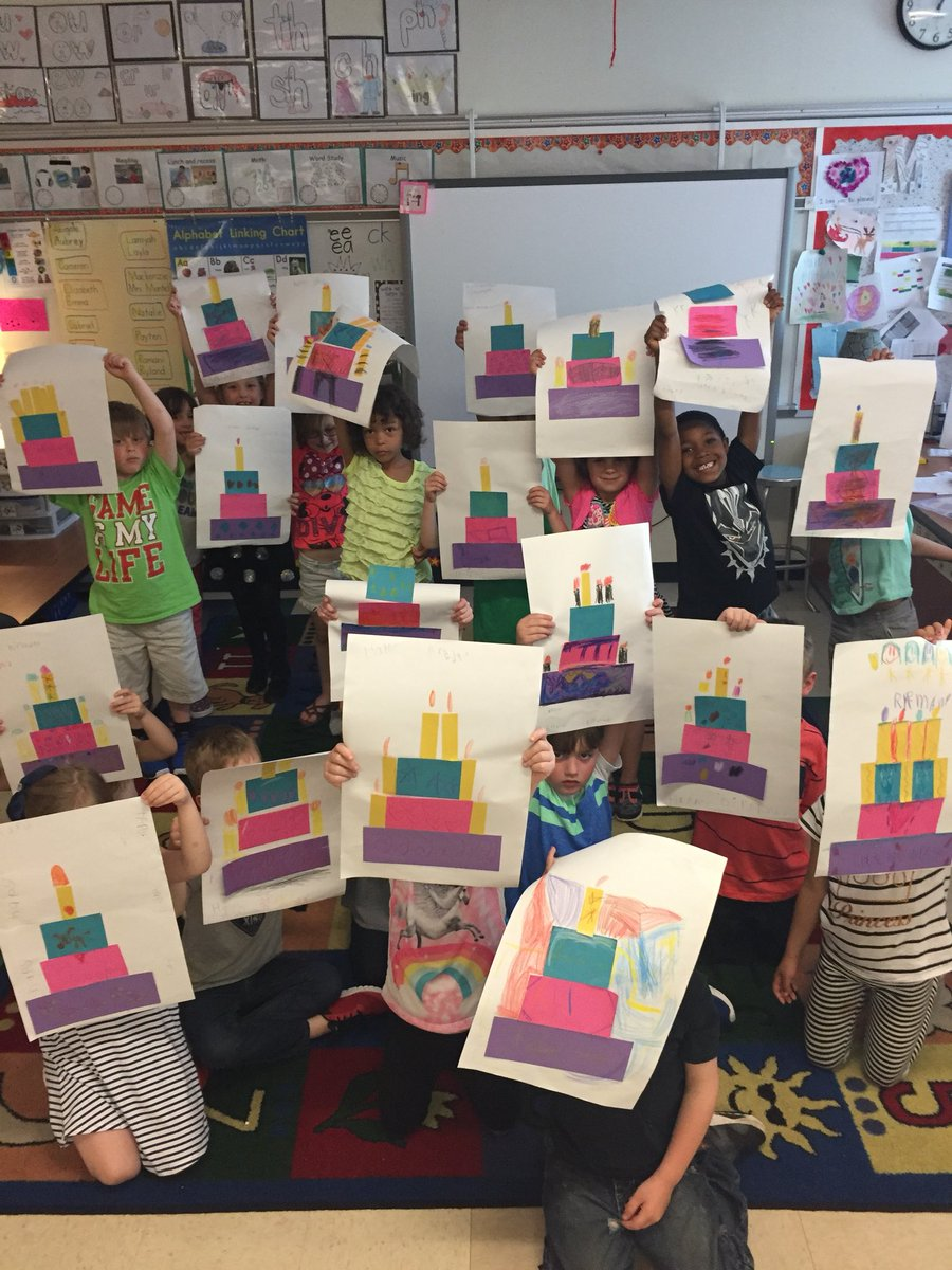 Our Kindergarten Students Wrote To The Author Of A Birthday Cake Is No Ordinary And Made Some Cakes HillviewElemen Newark Schools Stacie Montella