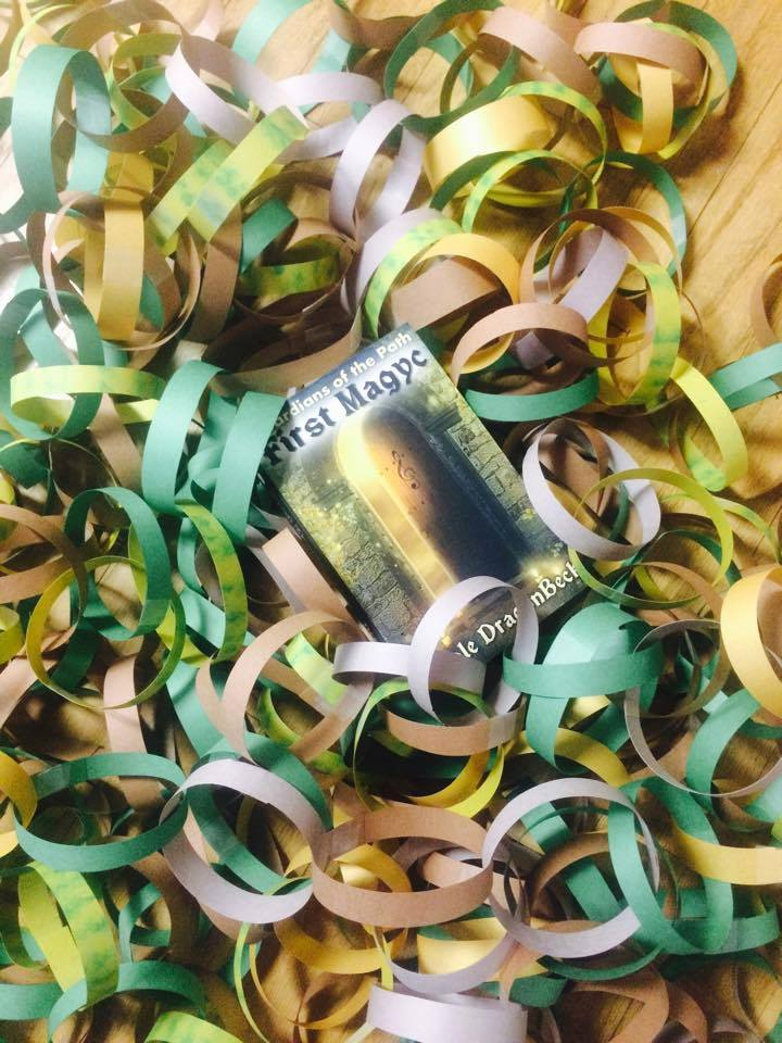 This will always be one of my favorite photos - my first book nestled in the streamers we made for the release party    #writerslife #love #win #GuardiansOfThePath #WednesdayMotivation #GoodMemories  #OneOfMyFavouriteThingsIs @witchinghourpub<br>http://pic.twitter.com/rYYgs041Ic