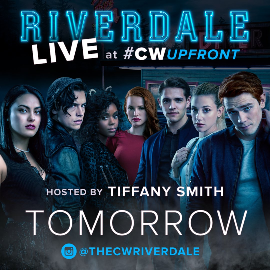 Don't miss the cast of #Riverdale TOMORROW morning LIVE on the #CWUpfront red carpet: https://t.co/wtUSZXFtZX https://t.co/yagTesNyip