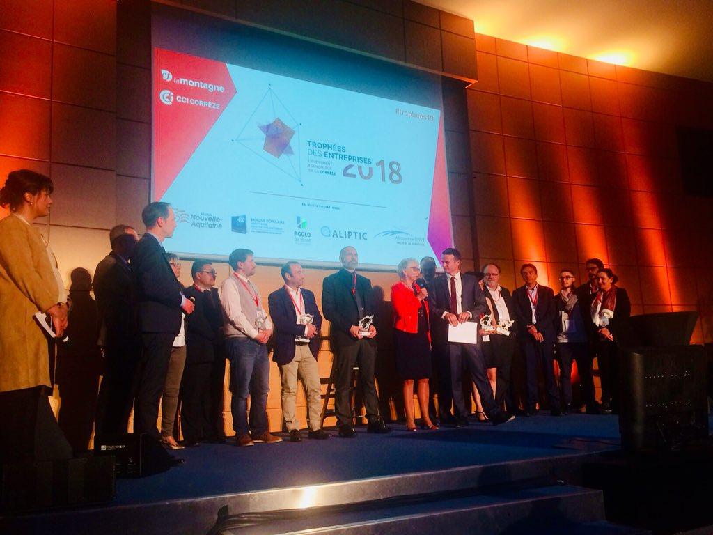 #félicitations aux #lauréats @CCICorreze @Montagnecorreze  1re édition des trophées des entreprises de la Corrèze #trophees19 @villedebrive  @AgglodeBrive  - FestivalFocus