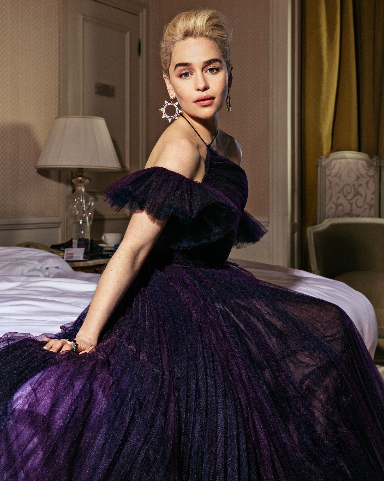 Emilia Clarke strikes a pose at #Cannes2018. See more V.F.-exclusive portraits at https://t.co/quDzuIJrLP https://t.co/g2bp7hvIka