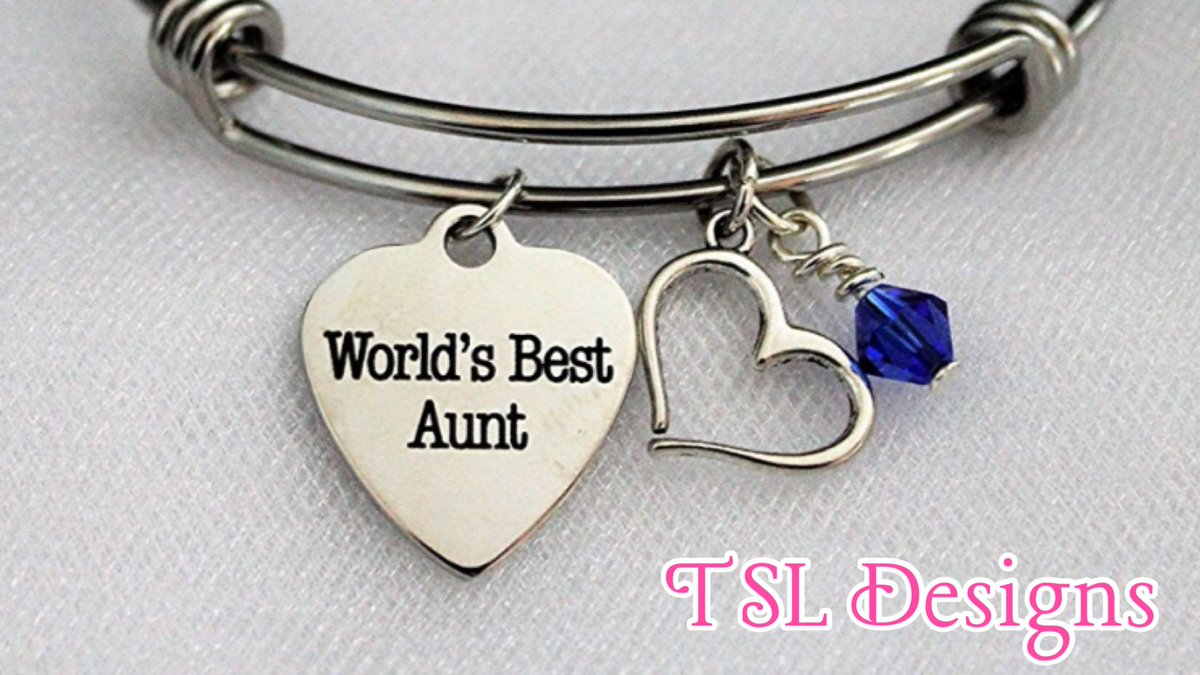 World S Best Aunt Charm Bracelet With Silver Heart And Swarovski Birthstone Crystal Http Dp B077wtb2nb Auntie