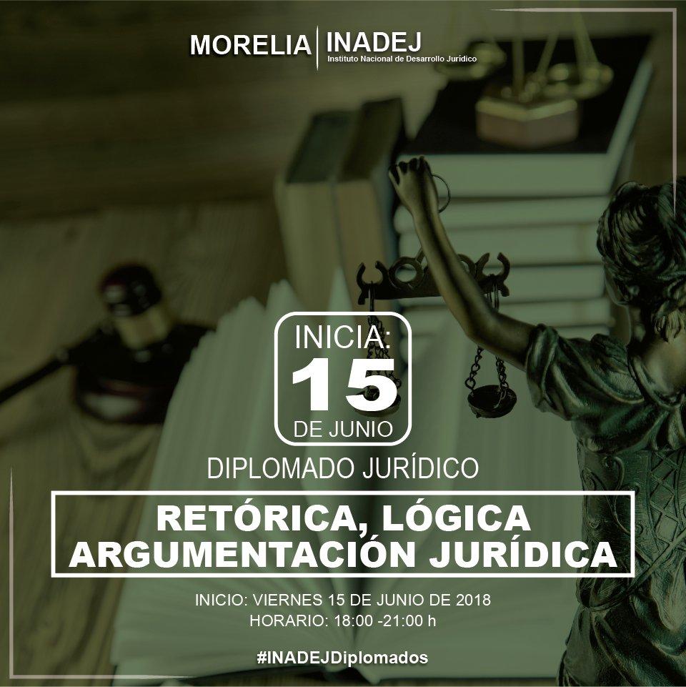 Inadej Morelia On Twitter Diplomado Retorica Logica Y