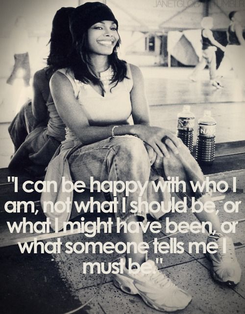 &quot;I can be happy with who I am, not what I should be, or what I might have been, or what someone tells me I must be.&quot; #JanetJackson #TrueYou #HappyBirthdayJanet #janfam<br>http://pic.twitter.com/yQFUAm9Fa9
