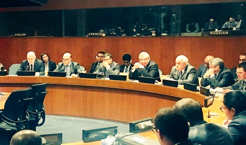 Amb @MahmoudSaikal attends special OIC Ambassadorial level meeting at UN headquarters to discuss the recent developments in the occupied #Palestinian territory and preparation for the forthcoming OIC Summit in #Istanbul.
