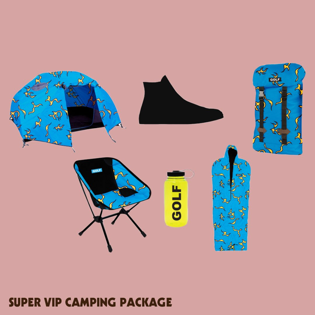 984a9e3461a6 ... and VIP Golf Wang x CFG x Poler camping package with a pair of Golf Le  Fleur x Converse personally designed by Tyler