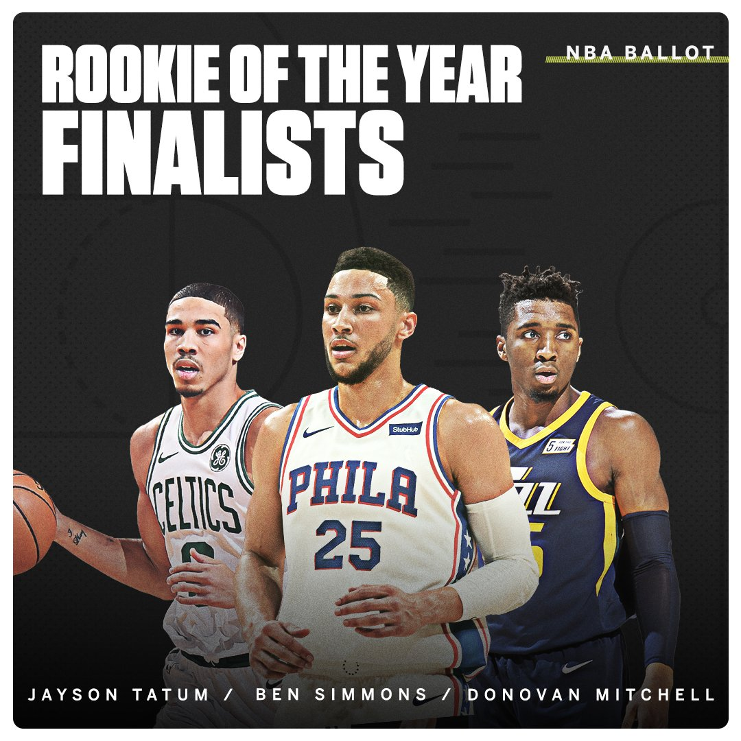These are the NBA Rookie of the Year finalists in a stacked class. https://t.co/loOKgsXmim