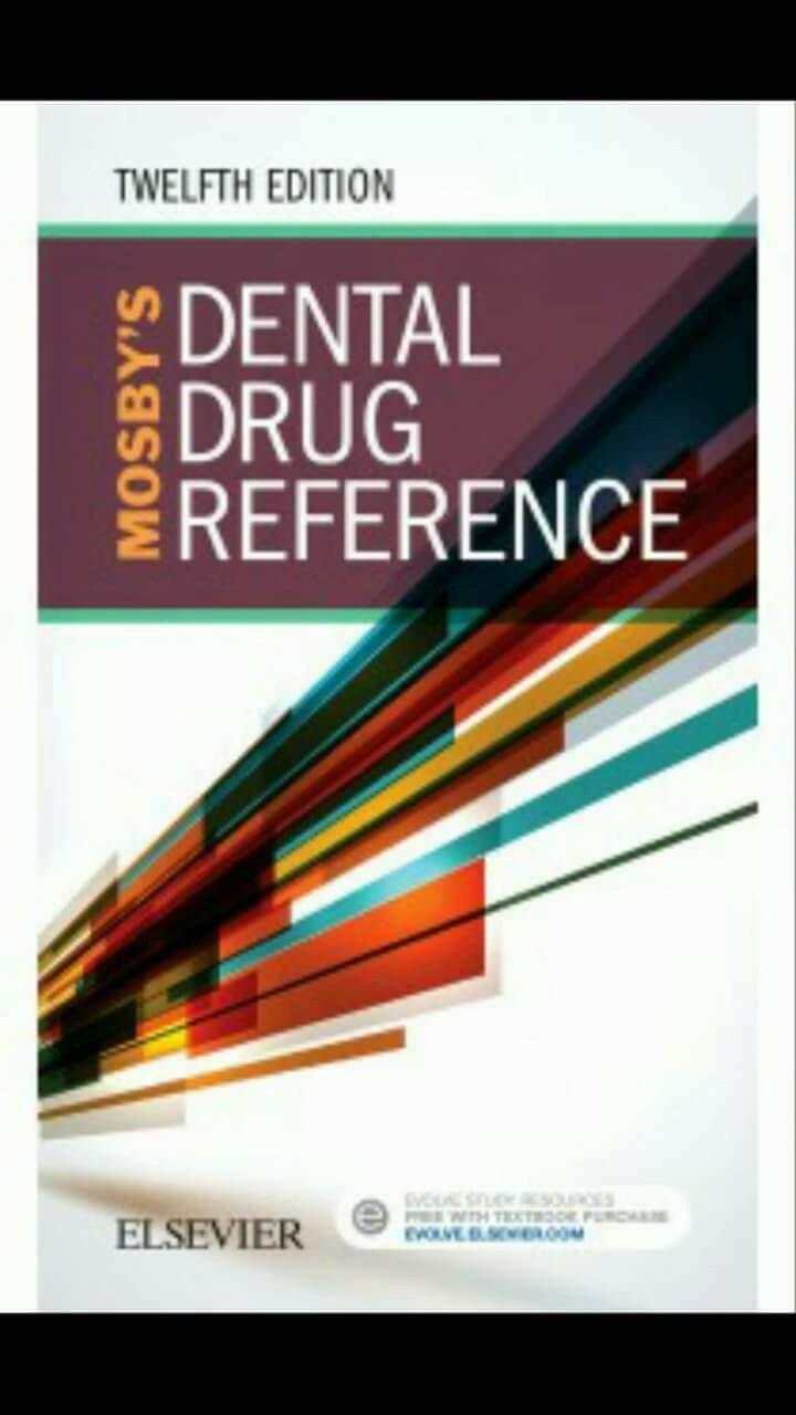 لانه يعطيك كل مايخص الأدوية اللي تخصك في مجال طب الأسنان 👍 - الكتاب آخر  إصدار 2018 Mosby's Dental Drug Reference ...