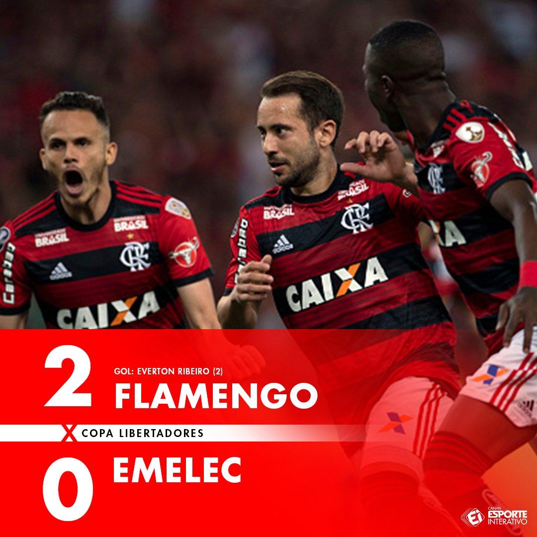 ACABOU! O Flamengo vence com dois de Everton Ribeiro e está CLASSIFICADO para a próxima fase da Liberta! #FLAxEME https://t.co/iNJwMbYRZU